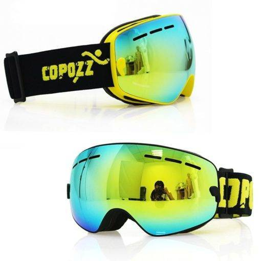COPOZZ Çocuk Kayak Gözlüğü Çift UV400 Anti-Sis Maske Tüm Ürünler Spor & Outdoor Çocuklar İçin