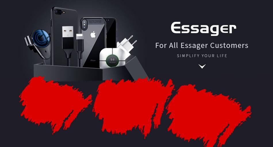 ESSAGER Hızlı Şarj Aleti USB Qualcomm 3.0 Turbo Hızlı Şarj