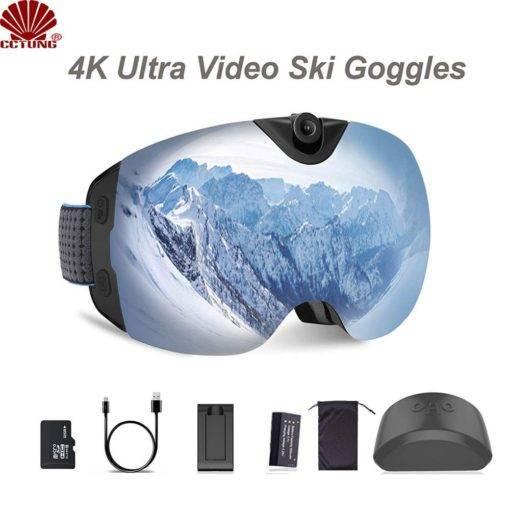 CCTUNG Kameralı Kayak Gözlüğü 4K Snowboard Kamera – Anti-Sis Tüm Ürünler Outdoor Aksesuar Tüketici Elektroniği Kamera & Fotoğraf Aksiyon Kameraları