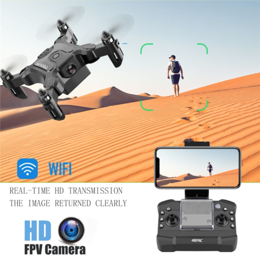 Mini Drone ile/olmadan HD kamera yüksek tutma modu RC dört pervaneli helikopter RTF WiFi FPVQuadcopter beni RC helikopter Quadrocopter çocuk Drone Tüketici Elektroniği