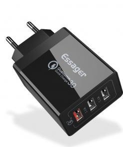 ESSAGER Hızlı Şarj Aleti USB Qualcomm 3.0 Turbo Hızlı Şarj Tüm Ürünler Cep Telefonları Aksesuarları