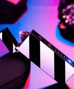 Çift ark elektrikli çakmak USB şarj edilebilir plazma çakmak sigara rüzgar geçirmez alevsiz çakmak Tüketici Elektroniği Akıllı Elektronik Aletler
