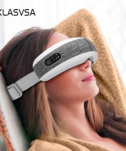 KLASVSA akıllı göz masajı hava sıkıştırma ısıtmalı masaj yorgun gözler için koyu halkalar kaldırmak masaj gevşeme Tüm Ürünler Sağlıklı Yaşam